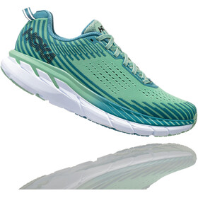 Hoka One One Clifton 5 Running Shoes Women Lichen/Storm Blue